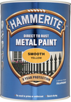 Hammerite Direct To Rust Metal Paint Smooth Finish Giallo 5L