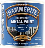 Hammerite Direct To Rust Metal Paint Smooth Finish Blu 0.25L