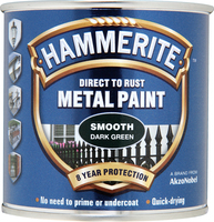 Hammerite Direct To Rust Metal Paint Smooth Finish Verde scuro 0.25L