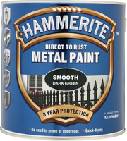 Hammerite Direct To Rust Metal Paint Smooth Finish Verde scuro 2.5L