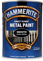 Hammerite Direct To Rust Metal Paint Smooth Finish Verde scuro 5L
