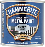 Hammerite Direct To Rust Metal Paint Smooth Finish Argento 0.25L