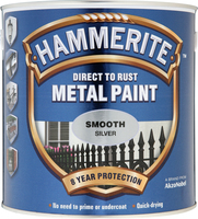 Hammerite Direct To Rust Metal Paint Smooth Finish Argento 2.5L