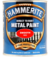 Hammerite Direct To Rust Metal Paint Smooth Finish Rosso 0.75L