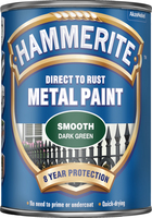 Hammerite Direct To Rust Metal Paint Smooth Finish Verde scuro 0.75L