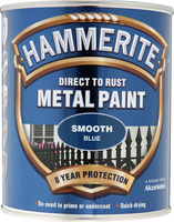 Hammerite Direct To Rust Metal Paint Smooth Finish Blu 0.75L