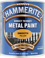 Hammerite Direct To Rust Metal Paint Smooth Finish Giallo 0.75L