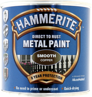 Hammerite Direct To Rust Metal Paint Smooth Finish Rame 0.25L