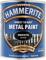 Hammerite Direct To Rust Metal Paint Smooth Finish Nero 0.75L