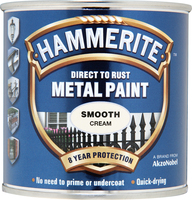Hammerite Direct To Rust Metal Paint Smooth Finish Crema (colore) 0.25L