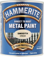 Hammerite Direct To Rust Metal Paint Smooth Finish Crema (colore) 0.75L