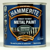 Hammerite Direct To Rust Metal Paint Smooth Finish Wild Thyme 0.25L