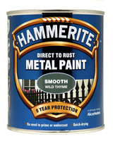 Hammerite Direct To Rust Metal Paint Smooth Finish Wild Thyme 0.75L