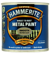 Hammerite Direct To Rust Metal Paint Smooth Finish Muted Clay 0.25L