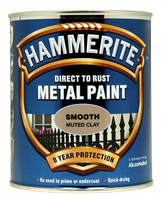 Hammerite Direct To Rust Metal Paint Smooth Finish Muted Clay 0.75L