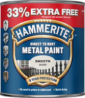 Hammerite Direct To Rust Metal Paint Smooth Finish Argento 1L