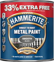 Hammerite Direct To Rust Metal Paint Smooth Finish Nero 1L