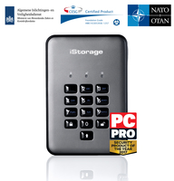iStorage IS-DAP2-256-500-C-G 500GB diskAshur PRO2 HDD Grafite disco rigido esterno