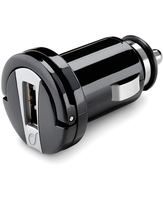 Cellularline USB Car Charger Micro - Universale Caricabatterie 5W compatto Nero