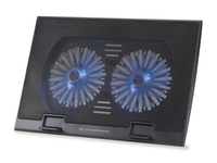 "Conceptronic Thana 02B 17"" Nero base di raffreddamento per notebook"
