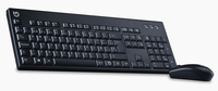 Hiditec KM400 RF Wireless QWERTY Nero