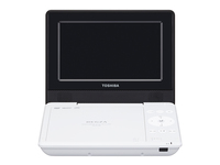"Toshiba SD-P710SW Portable DVD player Convertibile 7"" 1024 x 600Pixel Nero, Bianco lettore DVD/Blu-Ray portatile"