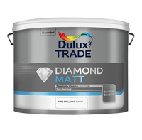 Dulux Trade Diamond Matt Pure Brilliant White 10L