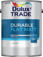 Dulux Trade Durable Flat Matt Light Base 5L