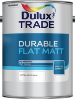 Dulux Trade Durable Flat Matt Extra Deep Base 5L