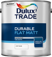 Dulux Trade Durable Flat Matt Light Base 2.5L