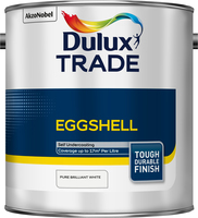 Dulux Trade Eggshell Pure Brilliant White 2.5L