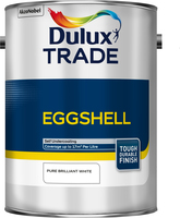 Dulux Trade Eggshell Pure Brilliant White 5L