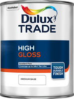Dulux Trade High Gloss Medium Base 1L