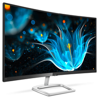 "Philips E Line 328E9QJAB/69 31.5"" Full HD LCD Curvo Nero, Argento monitor piatto per PC"