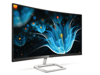 "Philips E Line 328E9QJAB/75 31.5"" Full HD LCD Curvo Nero, Argento monitor piatto per PC"