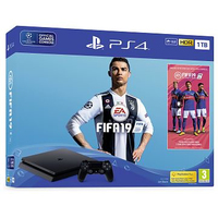 Sony PlayStation 4 Slim 1TB + 2x DUALSHOCK 4 + FIFA 19 1000GB Wi-Fi Nero