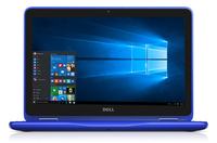 "DELL Inspiron 3168 1.6GHz N3060 Intel® Celeron® 11.6"" 1366 x 768Pixel Touch screen Blu Ibrido (2 in 1)"