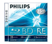 Philips 8712581528652 BD-RE 25GB 1pezzo(i) disco vergine Blu-Ray