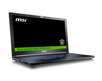 "MSI Workstation WS63 7RK-400TW notebook/portatile Nero Workstation mobile 39,6 cm (15.6"") 3840 x 2160 Pixel 2,8 GHz Intel® CoreT i7 di settima generazione i7-7700HQ"