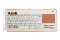 SilverHT Touchpad Wireless KB White + Peach Bluetooth QWERTY Spagnolo Pesca, Bianco