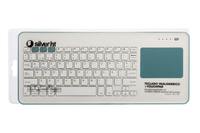 SilverHT Touchpad Wireless KB White + Blue Bluetooth QWERTY Spagnolo Blu, Bianco