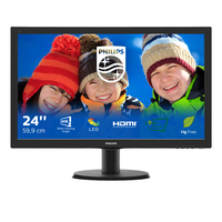 MONITOR LED 23,6'' PHILIPS 243V5QHSBA/00 CON SMART CONTROL LITE