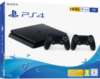 SONY PS4 CONSOLE 1TB F Chassis Black + Dualshock 4 V2 Black