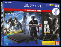 SONY PS4 CONSOLE 1TB + Horizon Zero Dawn + The Last of Us + Uncharted 4 1TB Wi-Fi