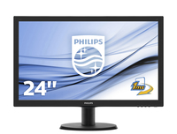 MONITOR LED 23.6 243V5LHAB MULTIMEDIALE HDMI/VGA/DVI PHILIPS