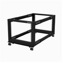 StarTech.com 8U Open Frame Rack - 4 Post - Adjustable Depth