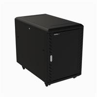 "StarTech.com 15U 19"" Server Rack Cabinet - 4 Post Adjustable Depth (6-32"") Locking Knock Down Network/Computer Equipment Enclosure - Mobile w/Glass Door & Casters - HP ProLiant ThinkServer"