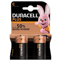 Pile Duracell Plus - mezzatorcia C - conf. 2