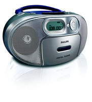 Philips AZ1053/12 Portable CD player Argento, Turchese CD player