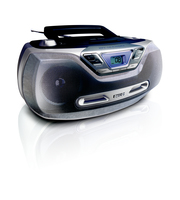 Philips AZ1130/12 Portable CD player Blu, Argento CD player